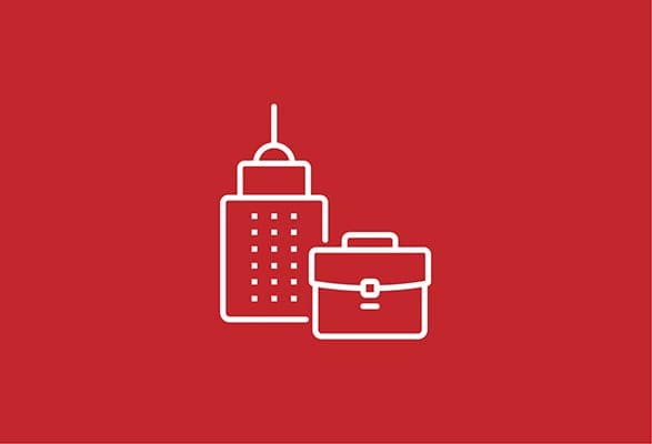 illustratie van een gebouw en schooltas