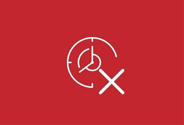 illustratie van een klok met een kruis in het midden
