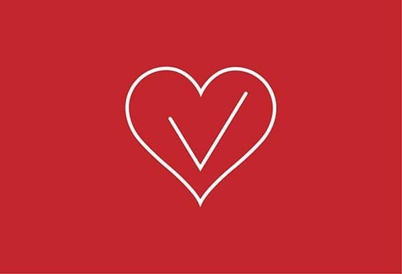 ilustratie hart met een vinkje