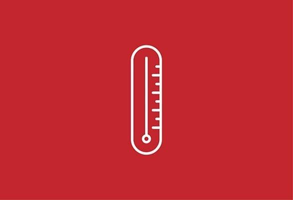 ilustratie van een thermometer